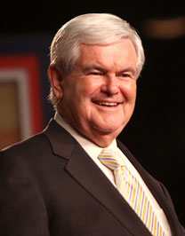 Image of Newt Gingrich smiling