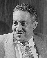 Image of Thurgood Marshall seated