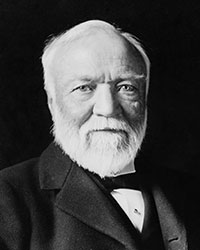 Image of Andrew Carnegie seated
