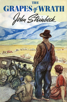 image of a book cover of the Grapes of Wrath