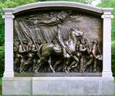 Image of the Shaw Memorial